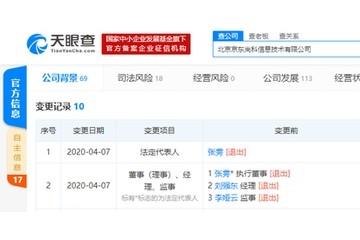 刘强东卸职京东旗下公司司理一职2020年已卸职51家