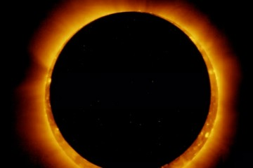 2021年第一次日食将在天空中呈现一个火环但仅有少数人能看到
